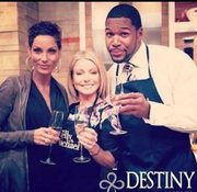 "Destiny Moscato Co-Founder and Star of VH1′s hit reality show ""Hollywood Exes"" Nicole Murphy, American actress, television producer, and  talk show host of Live! with Kelly and Michael Kelly Ripa and talk show host of  Live! with Regis and Kelly, Good Morning America contributor, and  retired American football defensive end Michael Strahan"