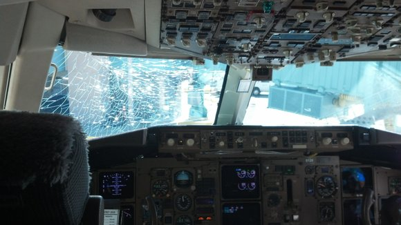 A cracked windshield was not part of traveler Jennifer Squires' flight plan when she boarded a Delta Air Lines flight ...