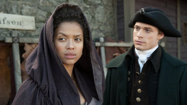 "In ""Belle,"" Gugu Mbatha-Raw (l) stars as Dido Belle, who falls in love with abolitionist John Davinier, played by Sam Reid (r). The pair unite to oppose slavery in 18th century England."