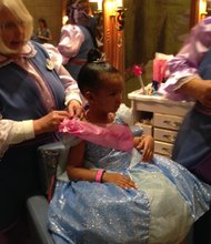 Willa Simmon's at the Bibbidi Bobbidi Boutique in Disney World