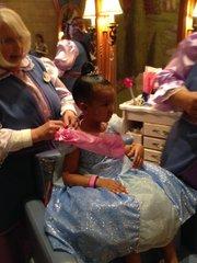 Willa Simmon's at the Bibbidi Bobbidi Boutique in Disney World