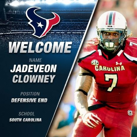 Jadeveon Clowney selected with the #1 overall pick in the 2014 NFL Draft