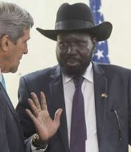 Secy of State Kerry and Sudan Pres. S. Kiir