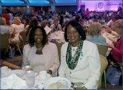 Genet Hopewell and Mereda Davis Johnson at the luncheon.