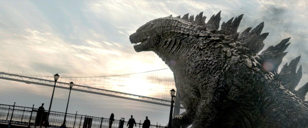 "A scene from Warner Bros. Pictures' and Legendary Pictures' epic action adventure ""Godzilla."""