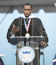 Sean Combs, founder and CEO of Combs Enterprises, stressed to Howard University's Class of 2014, the importance of not self-belief. /Photo courtesy Howard University