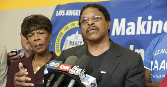Leon Jenkins, the Los Angeles branch NAACP president who awarded L.A. Clippers basketball team owner Donald Sterling with a Lifetime ...