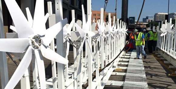 Kicking off Earth Day activities, El Centro College held its official start-up of 40 wind turbines on April 21.