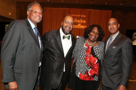 Dr. Henry Shannon, IVN Publisher Tommy Morrow, Fontana Mayor Warren and Michael Lacy