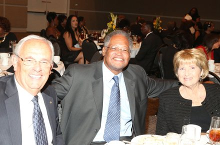 Gary George, Dr. Henry Shannon and Katie Roberts