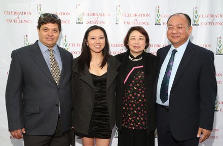 Sam Chan (far right) with family
