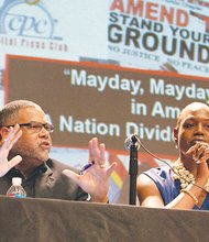 "On Thurs., May 1, Black politics and public policy expert, Dr. Wilmer Leon and Nicole Austin-Hillery, director and counsel for the Brennan Center participate in ""Mayday, Mayday, Mayday in America! - A Nation Divided Against Itself, a panel discussion held at the African Civil War Memorial in Northwest."