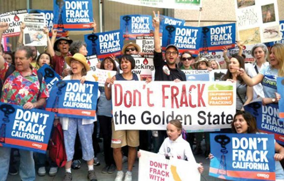 Food & Water Watch, CREDO, 350 San Diego, and other organizations representing the statewide coalition Californians Against Fracking protested Governor ...