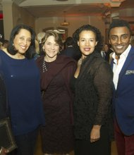 L to R: Ed Lewis, Thelma Dye-Holmes (executive director, Northside Center), Janie Emil, Elinor Tatum (editor-in-chief and publisher, Amsterdam News) and Marcus Samuelsson (Red Rooster owner and Northside Center Corporate Community Achievement Award honoree)