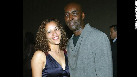 Actor Michael Jace, right, has been arrested in connection with the fatal shooting of his wife, April. Jace formerly appeared ...