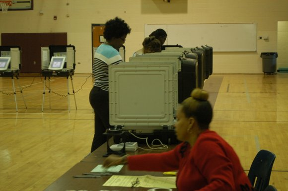 Few voters in DeKalb are casting their ballots in several high stakes primary, nonpartison and special elections.