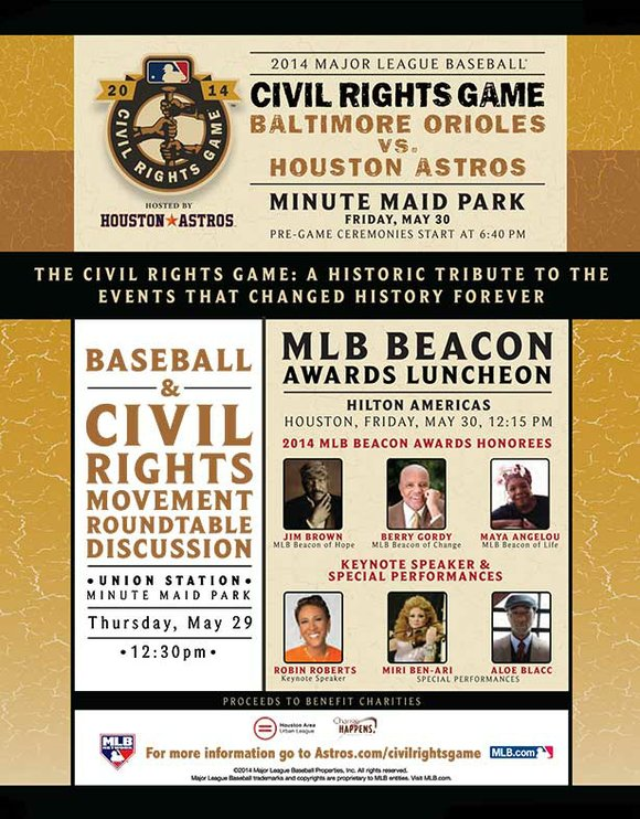 2014 MLB Civil Rights Game l Baltimore Orioles vs. Houston Astros l Friday, May 30 l @ Minute Maid Park