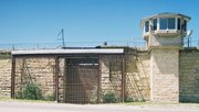 """If you've seen the """"Blues Brothers,"""" then you know this is the gate that Joliet Jake, played by John Belushi, exits when he's released from prison at the start of the movie."""