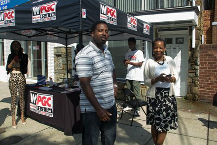 "The Washington Informer and WPGC 95.5 kickoff ""95 Days of Peace"" campaign broadcasted live outside of The Informer's offices on May 22. /Photo by Shevry Lassiter"