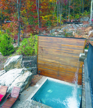 La Source Bains Nordiques offers absolutely unparalleled, off-the-chain, stunning beauty set in a 100-year-old forested hillside.