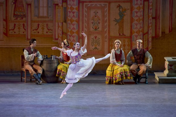 "Misty Copeland as Swanilda in ""Coppelia."""