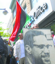 Fed EX rally for Malcom X