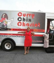 Donna Hundley, owner of Curvy Chix Chariot, the first mobile boutique for plus size women in Maryland, Virginia and Washington, D.C.