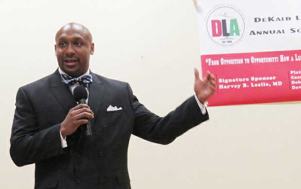 Mawuli Mel Davis, a partner in the Davis-Bozeman Law Firm, is the new president of the DeKalb Lawyers Association.
