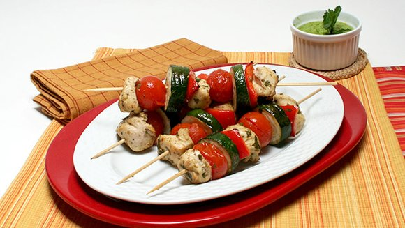 This recipe for Cypriot Chicken Kebabs is a good source of protein and fiber. The veggies also contain antioxidants that ...