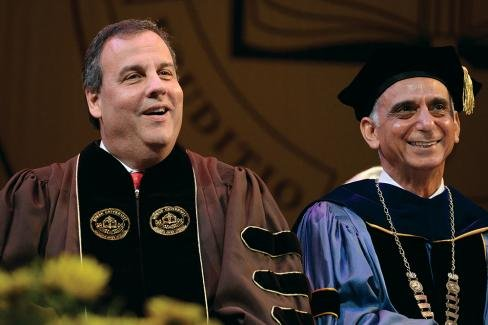 New Jersey Gov. Chris Christie – and some 2,300 Rowan University graduates – shined despite daylong torrential rains May 16 ...