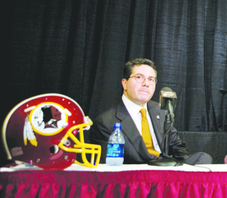 Washington Redskins owner Daniel Snyder (Courtesy of the Atlantic.com)