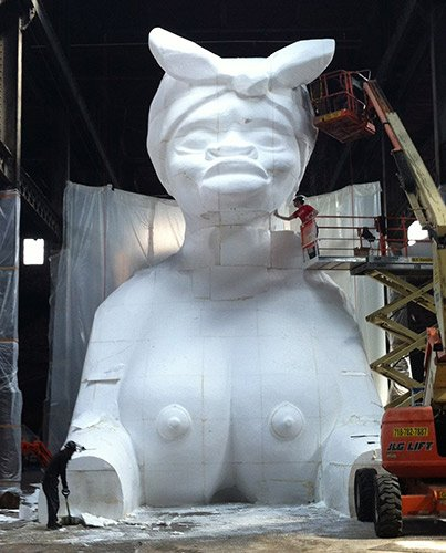 "If you go to Kara Walker's new exhibit, ""A Subtlety,"" at the Domino Sugar Factory in Brooklyn, a lot will ..."