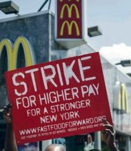 McDonald's workers protests