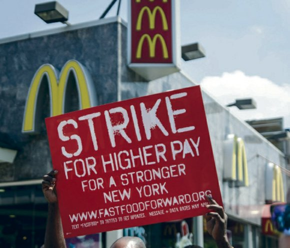 McDonald's employees from nearly three dozen cities marched to the company's annual shareholder's meeting last Thursday morning in Oak Brook, ...