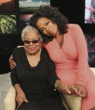 Dr. Maya Angelou with Oprah Winfrey