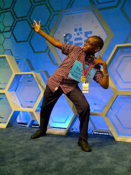 Tajuan Gibbison, a 13-year-old from Jamaica, made it to the final round of the 87th Scripps National Spelling Bee on May 29.