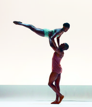 Alvin Ailey American Dance Theater's Rachael McLaren and Kirven Douthit-Boyd in Wayne McGregor's Chroma.