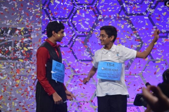 The nation's two top spellers literally took every word the Scripps National Spelling Bee could throw at them in Thursday ...