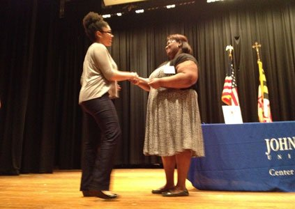 Joi Haskins, a student from Reisterstown, was recently honored as one of the brightest young students in the nation at ...