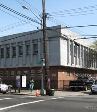 Looking southeast at 75th Precinct at 1000 Sutter Avenue in East New York.