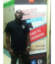 First Generation student, Dontay Gray, at one stop on the Go College! Tour.