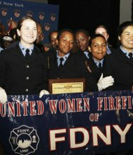 Graduatiing class of 41 women firefighters