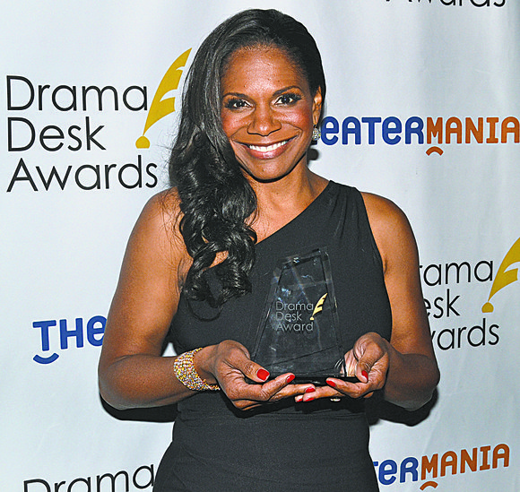 At the 59th annual Drama Desk Awards, held at Town Hall on West 43rd Street, three African-American actors won the ...