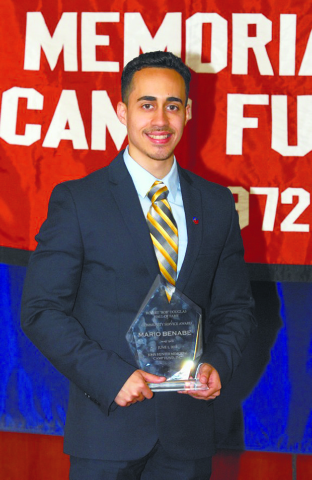 Mario Benebe  received the John Hunter Community Service award