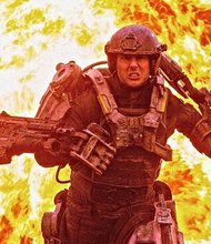"Tom Cruise stars in ""Edge of Tomorrow"""