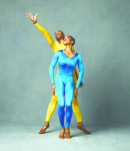 "Alvin Ailey American Dance Theater's Antonio Douthit-Boyd and Akua Noni Parker in Hans van Manen's ""Polish Pieces"""