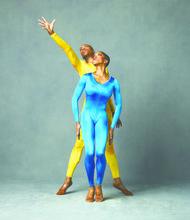"Alvin Ailey American Dance Theater's Antonio Douthit-Boyd andAkua Noni Parker in Hans van Manen's ""Polish Pieces"""
