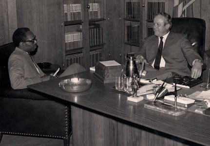 Moses Newson interviews U.S. Attorney General Richard Gordon Kleindienst. Kleindienst served in his post during 