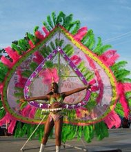 A Caribbean Carnival dancer who will be part of the Carnival Parade during the Flag Day celebrations at the Reginald F. Lewis Museum on Saturday, June 7, 2014.