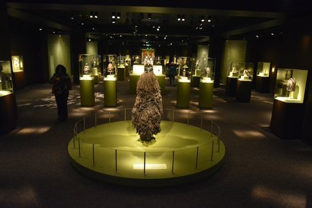 """""""Visions from the Forests: The Art of Liberia and Sierra Leone,"""" an exhibit at the Smithsonian National Museum of African Art, is seen here during the """"African Art at 50"""" celebration at the museum in D.C. on June 3, 2014."""